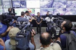 De acordo com a análise técnica, formou-se uma supercélula de tempestade Foto: Joel Vargas/PMPA