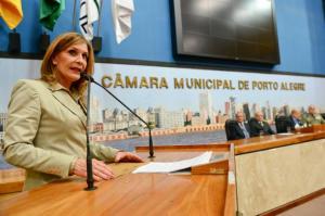 Mônica Leal garante houve equívocos na hora da mudança de nome da via | Foto: Matheus Piccini / CMPA / CP
