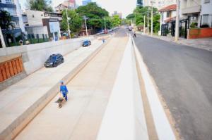 Liberados acessos da trincheira de avenida em Porto Alegre | Foto: Alina Souza