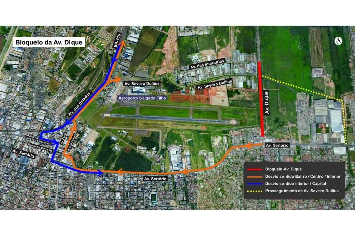 Novo trecho terá 1,9 quilômetro e deverá ser concluído em dezembro Foto: Divulgação/PMPA