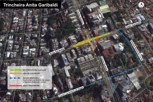 Passagem sob a avenida Carlos Gomes conta com duas faixas de trânsito Foto: Divulgação/ PMPA