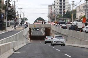 Pela nova estrutura trafegar, em média, 80 mil veículos por dia Foto: Ricardo Giusti/PMPA