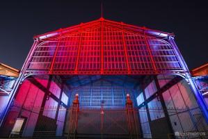 Projeto iluminou o portão central do Cais do Porto no último final de semana  Foto: Rhsphotos/Divulgação PMPA