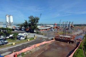 Trabalhos na nova Ponte do Guaíba são suspensos   Foto: Samuel Maciel