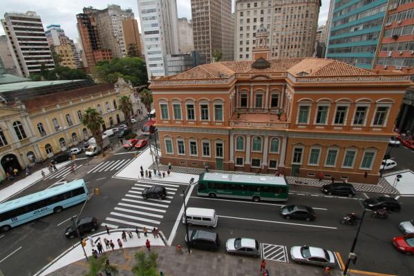 EPTC qualifica sinalização para pedestres no Centro Histórico  Foto: Brayan Martins/ PMPA