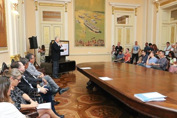 Prefeito lembra que gastos com saúde e educação foram acima do exigido por lei  Foto: Luciano Lanes /PMPA