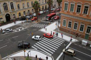 Ruas do Centro de Porto Alegre ganham mais espaço para pedestres