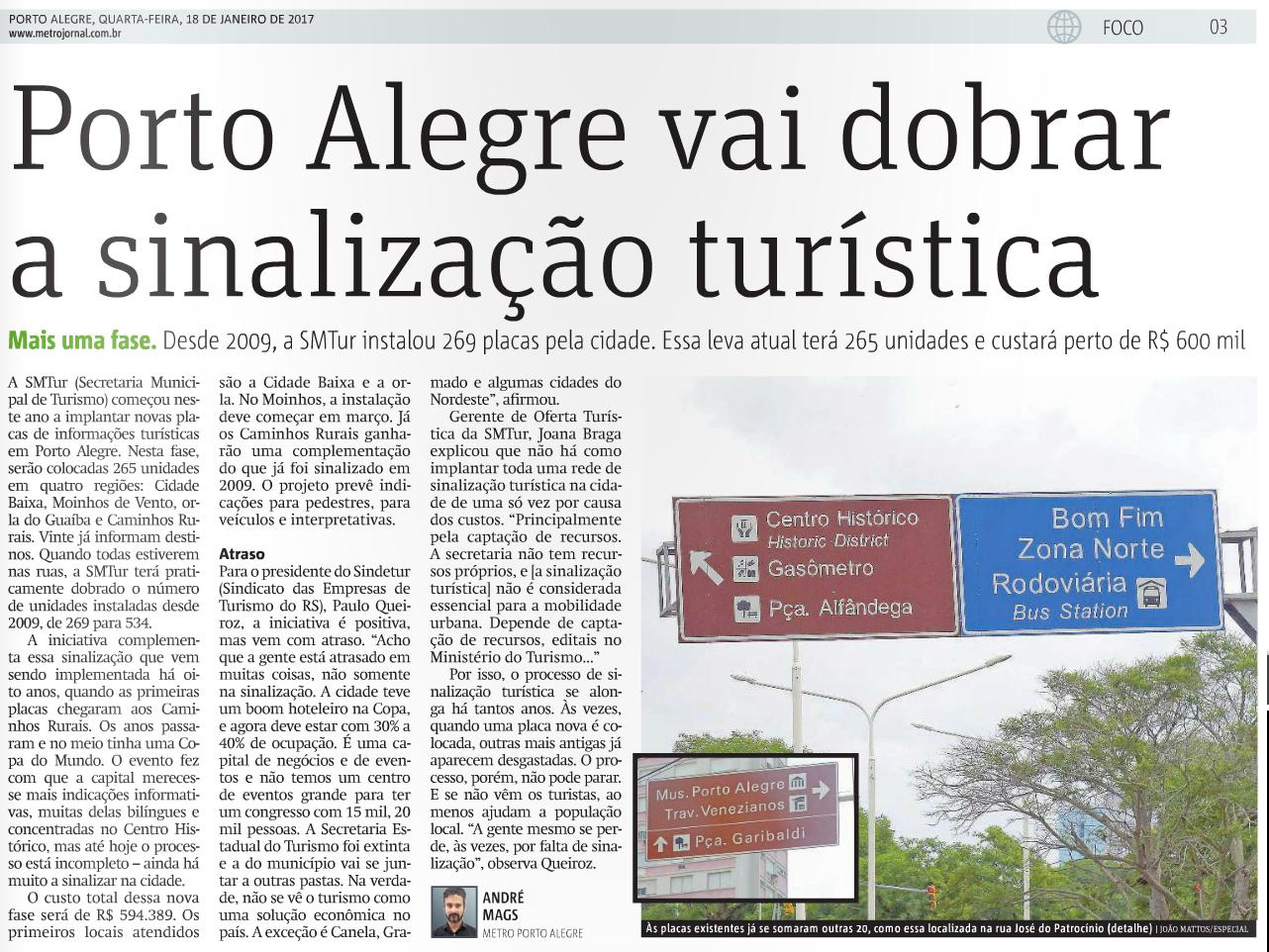 #305E9B Porto Alegre vai dobrar a sinalização turística 544 Janelas Em Aluminio Em Porto Alegre