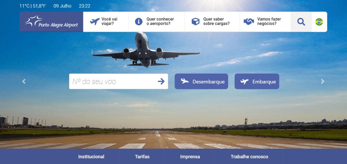 Site do Aeroporto Salgado Filho (Fraport) é modernizado
