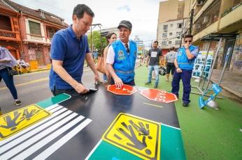 Porto Alegre, RS - 09/11/2019: O prefeito Nelson Marchezan Júnior esteve na manhã deste sábado (9) na rua João Alfredo com o objetivo de vistoriar a conclusão da primeira etapa do projeto Ruas Completas. Foto: Jefferson Bernardes/PMPA